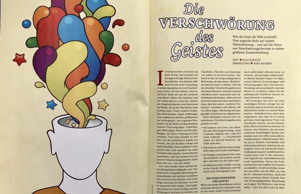 """Artikel von Ralf """"Die Verschwörung des Geistes"""" in der neuen Ausgabe der Yoga Aktuell!"""